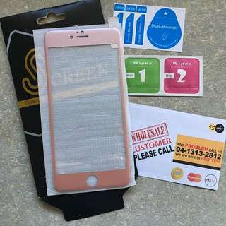 iPhone 6 Plus Rose Gold Tempered Glass Screen Protector
