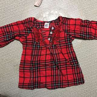 cartes long sleeves 12months