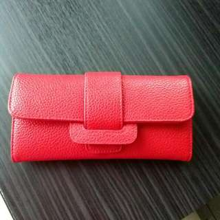 Red wallet kulit