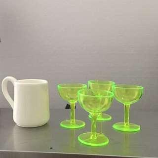 1/6 Scale Jug & 4 Wine Glasses New