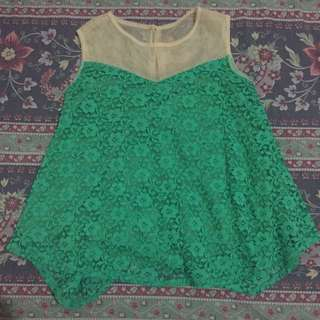 Green Lace Top