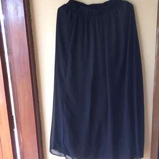 Chiffon Black Skirt