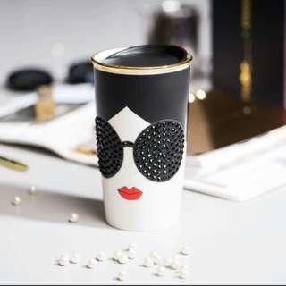 Starbucks Limited Edition - Alice And Olivia Double Walk Ceramic Mug