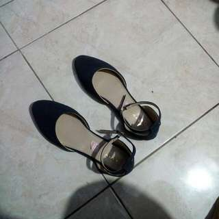 Flat Shoes Navy Alive Size 40