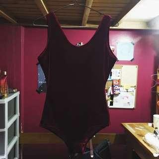 REPRICED!!! Velvet Bodysuit