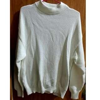 😂降價!全新UNIQLO粗針寬版棉質毛衣(M)