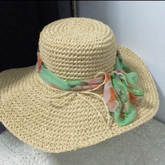 👒渡假藤編草帽👒
