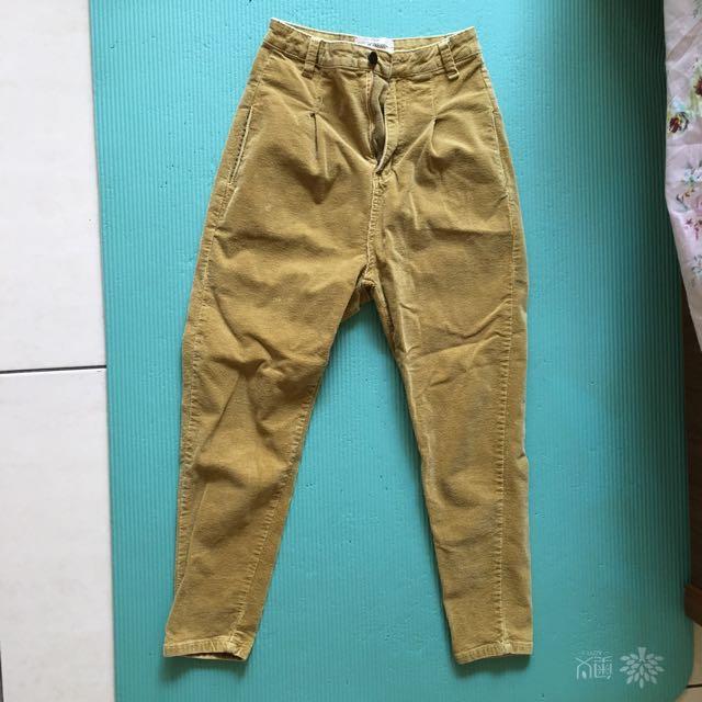 復古土色長褲