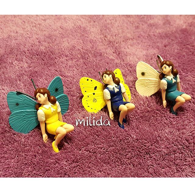 【售 杯緣子 新色四代6小全+深藍衣蝴蝶+淺藍衣蝴蝶+黃衣蝴蝶】