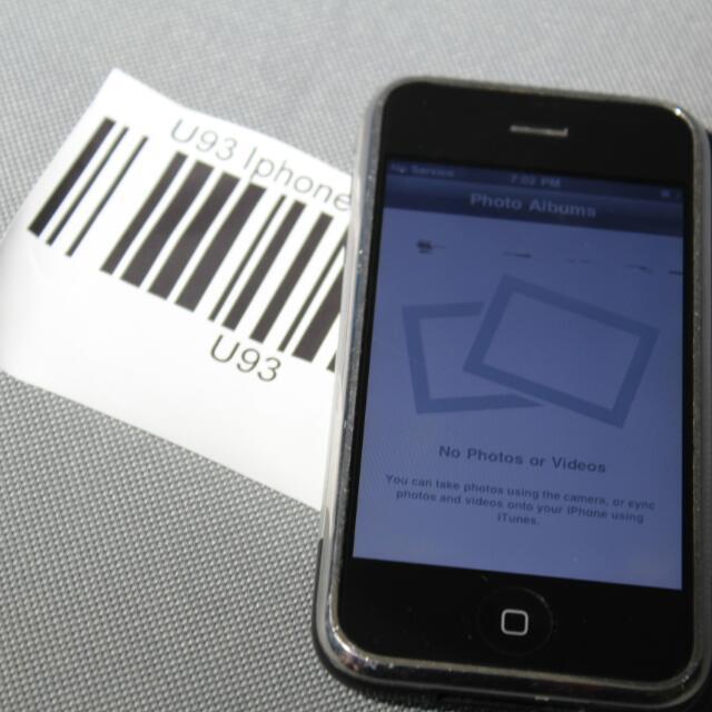 Apple Iphone 1St Gen - 8Gb - Black U 93