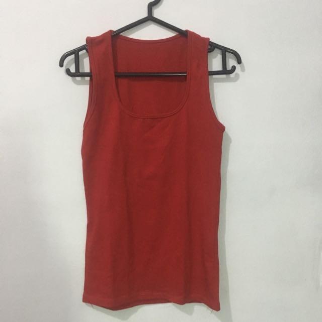 Baju Tank Top Merah