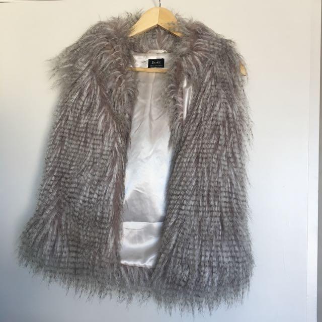 Bardot Faux Feather Vest