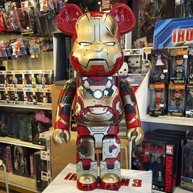 1fa36cea Carousell의 Bearbrick Battle Damaged Ironman 1000%, Toys & Games ...