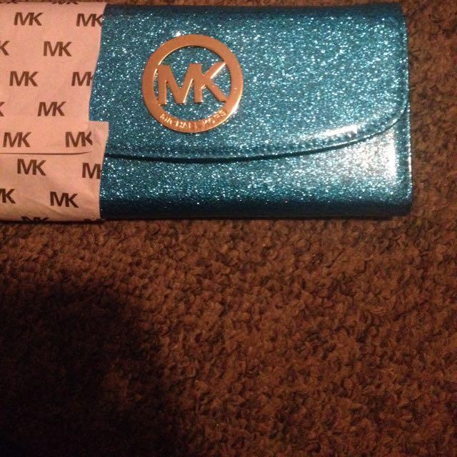Blue MK wallet