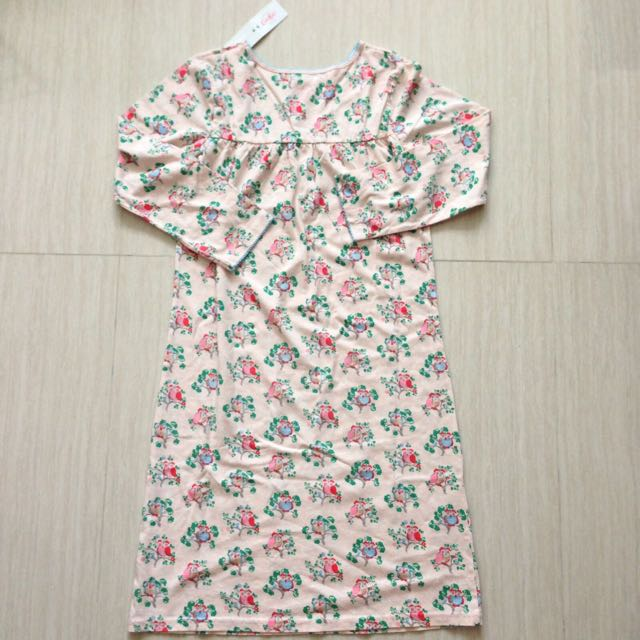 BNWT Cath Kidston Kids Little Owls Kids Jersey Nightie (pale pink) 7-8 Yrs Old