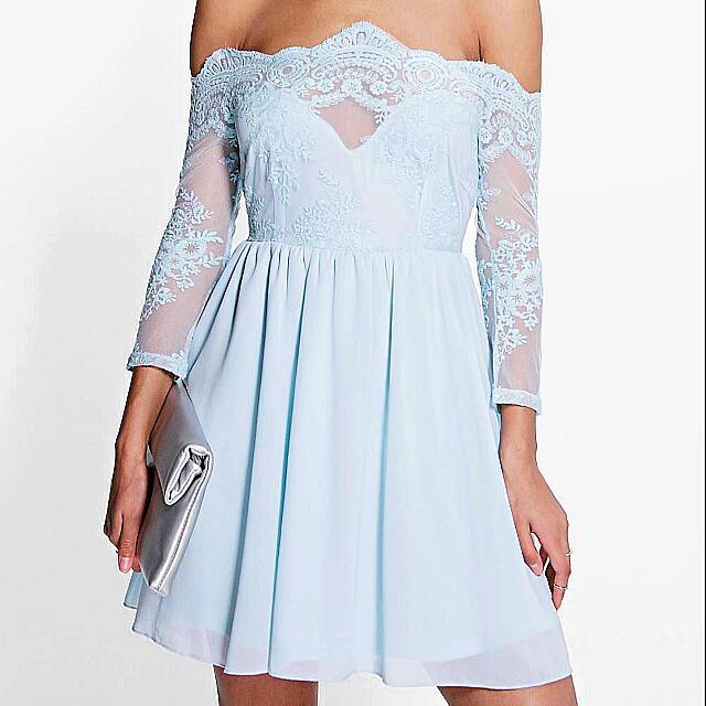 Boohoo Off The Shoulder Dress
