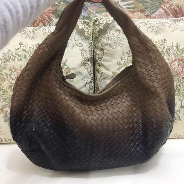 Bottega Veneta 編織包 和尚包 漸層摩卡色大號💋今日特價💋