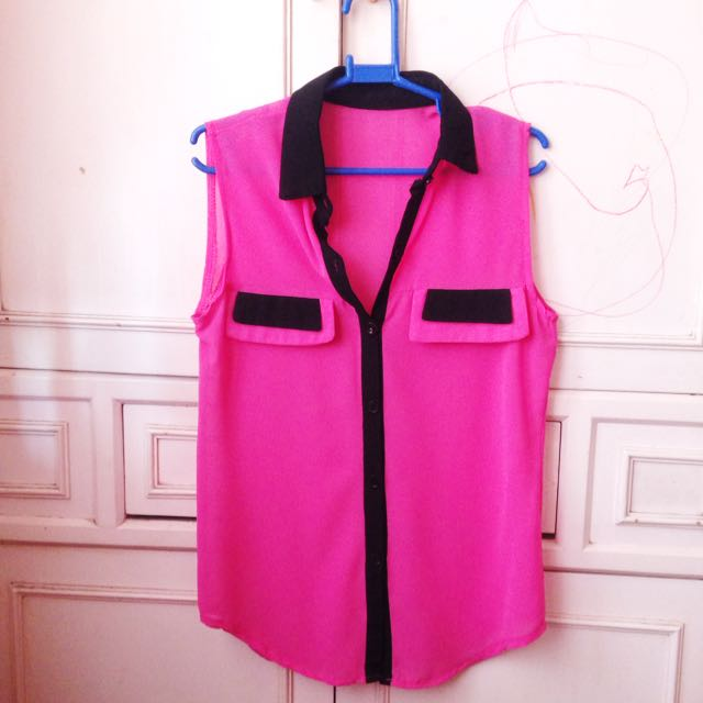 Button Down Pink Polo