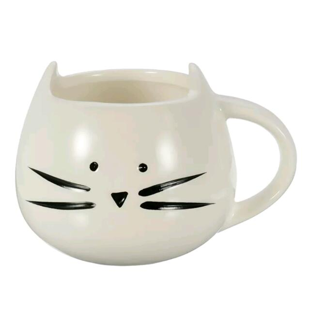 Ceramic White Cat Mug Coffee Tea