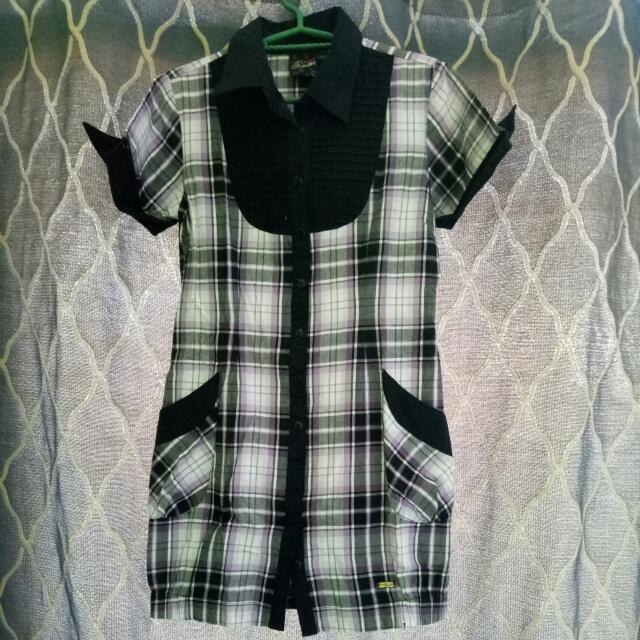 Checkered Polo Dress