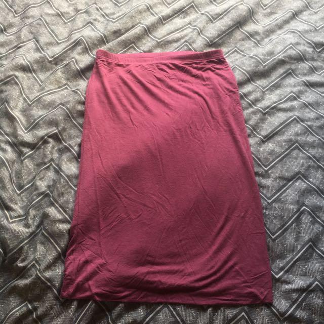 Cotton On Purple Plain Highwaisted Skirt