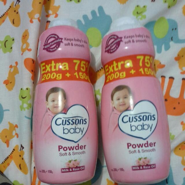 Cussons Baby Powder bedak Pink Milk And Rose Oil