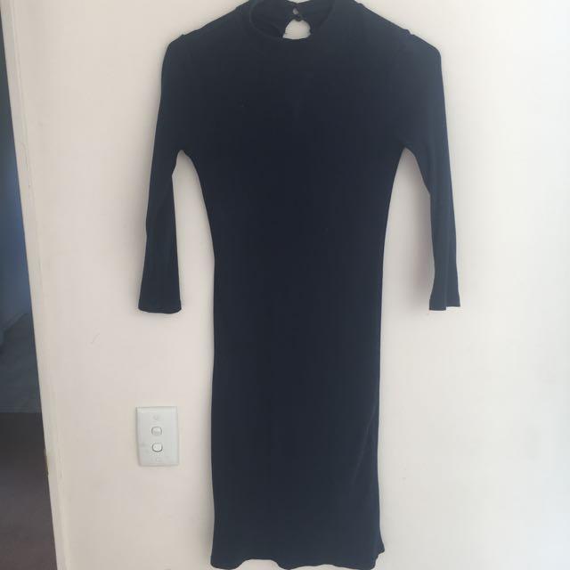 Fitme dotti Dress, Highneck Navy