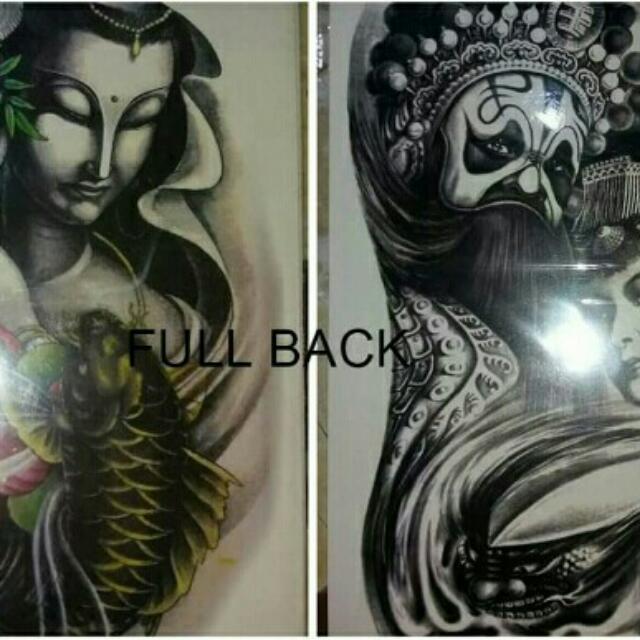 Full Back Temporary Tattoos..