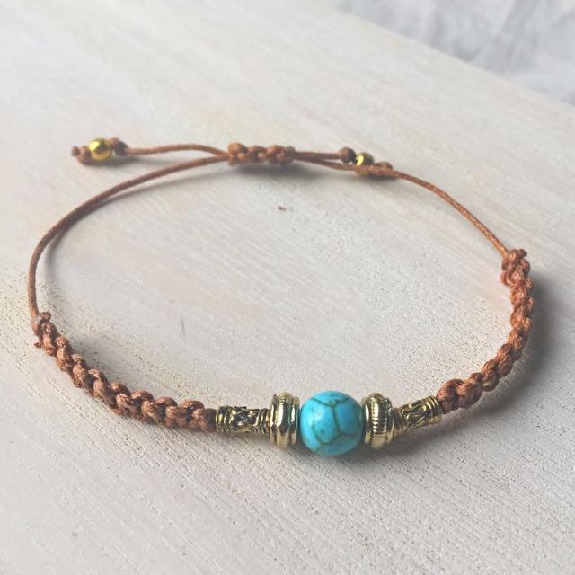 Handmade Bracelet macrame turquoise