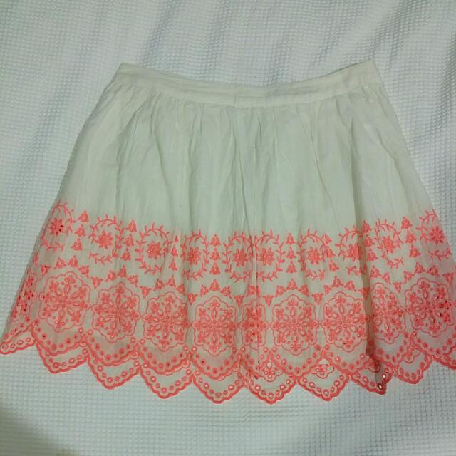 High Waisted embroidered Skirt