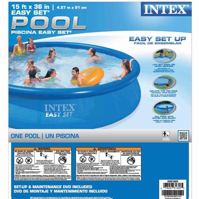 15ft x 36 Inch Intex Easy Set Swimming Pool
