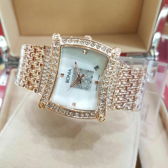 Jam Tangan Bonia Lampion Diamond