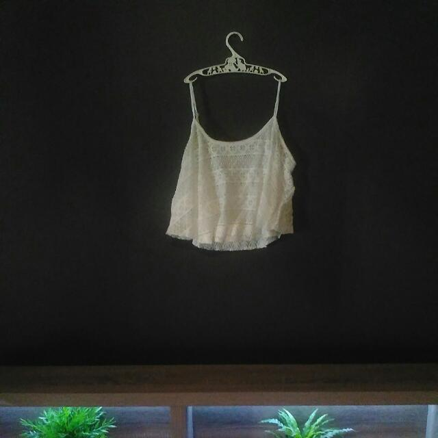 Lace Crop Top Size Medium/Large