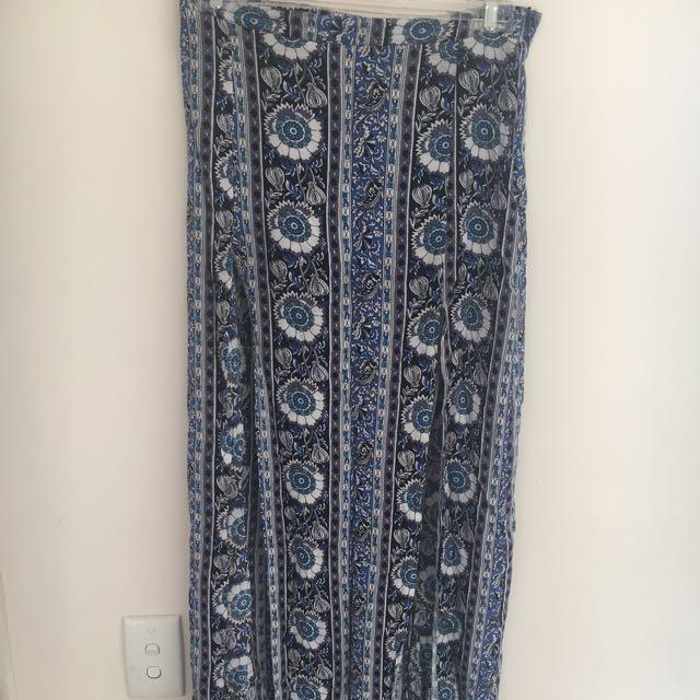 Long Split Chicabooti Skirt