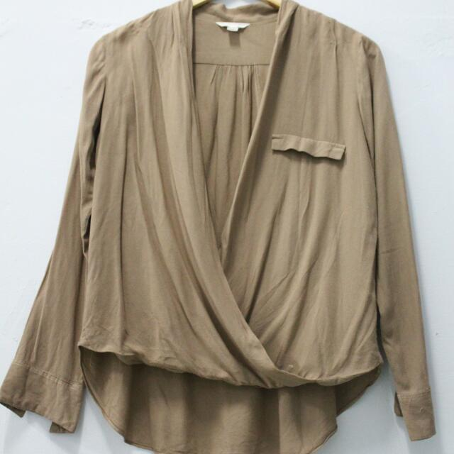 Magnolia Brown Longsleeve Blouse