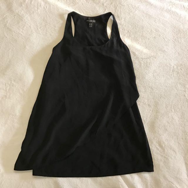 Mango Racer Black Dress With Overlap