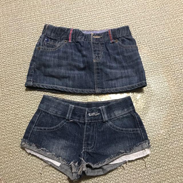 mini skirt & sexy shorts