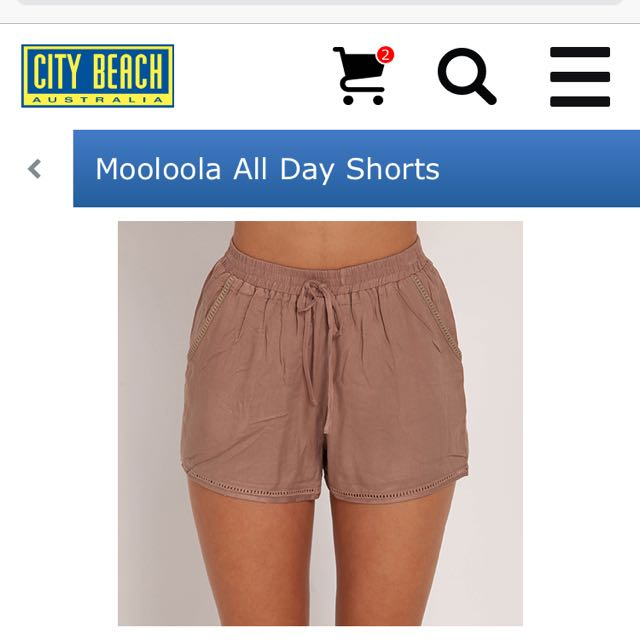 Moolala City Beach Shorts Womens Size 8 Brown