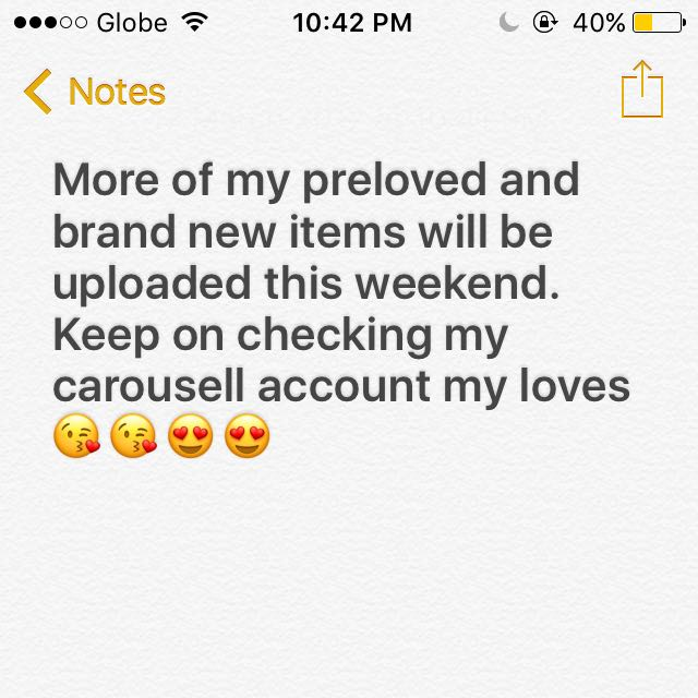 More Of My Preloved Items Soon!! 😍👱🏻♀️💋💕