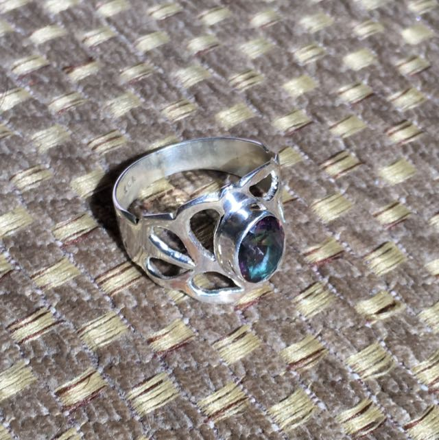 Mystic Topaz Ring Size 6 Only