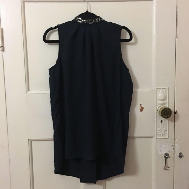 Navy High Necked Work Shirt (H & M)