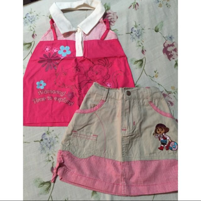 Nickelodeon blouse and skirt set