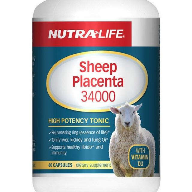 Nutralife Sheep Placenta 34000 With V.D3