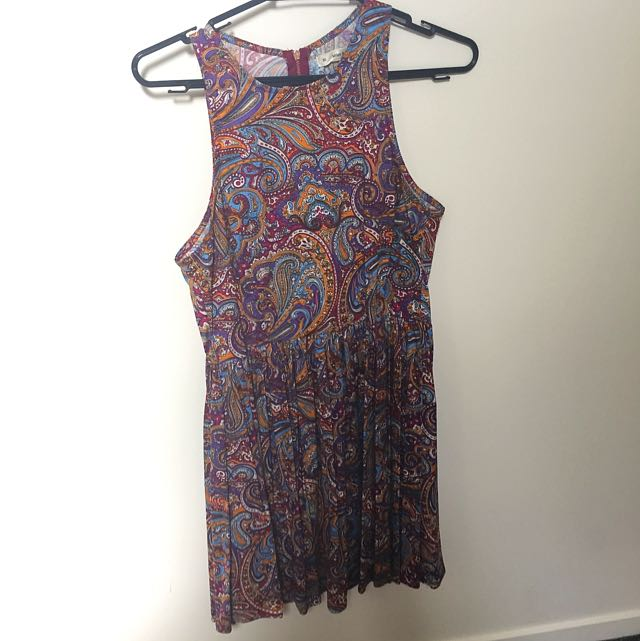 Paisley high neck dress