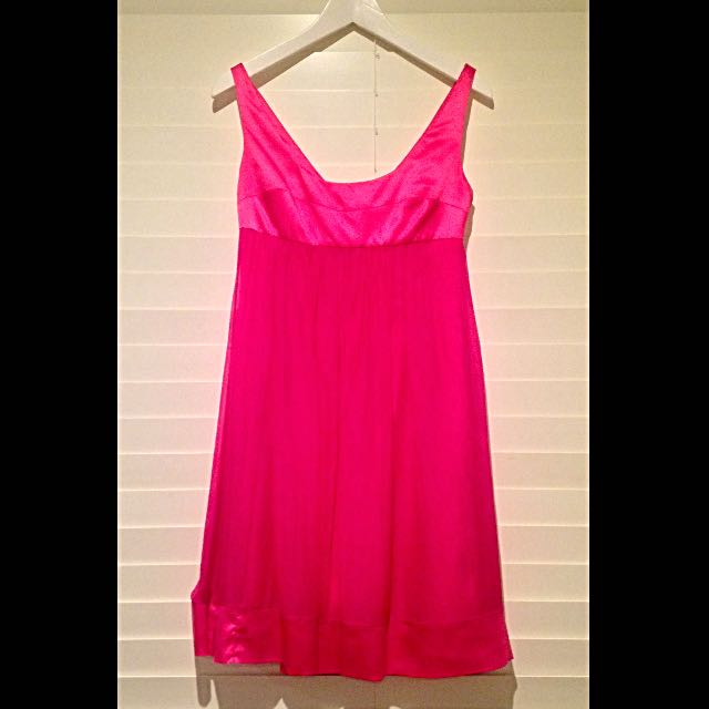 Pink Satin Babydoll Dress