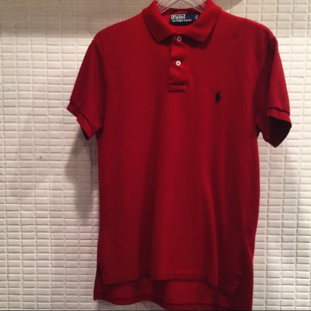 Polo by Ralph Lauren紅色polo衫