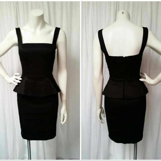 Portmans Black Peplum Dress