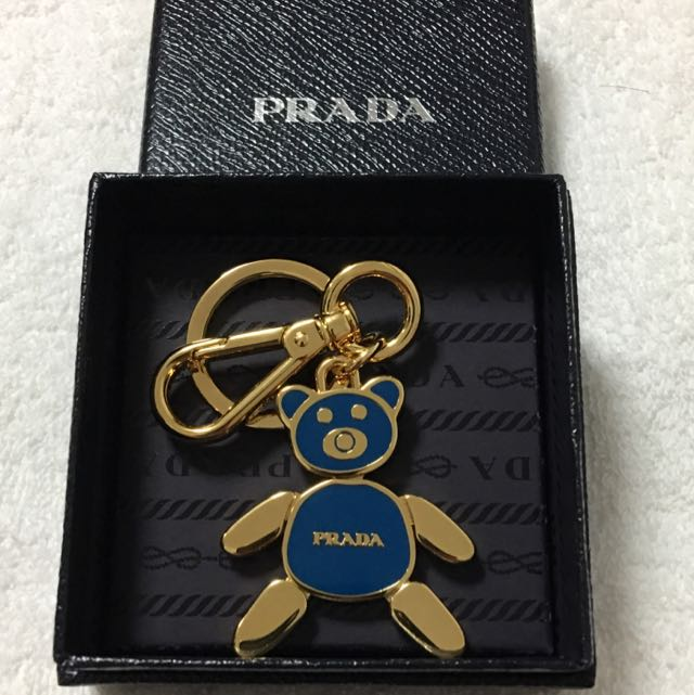 c6726c7d1ee6 Prada Teddy Bear Keyring / Bag Charm, Luxury, Bags & Wallets on ...