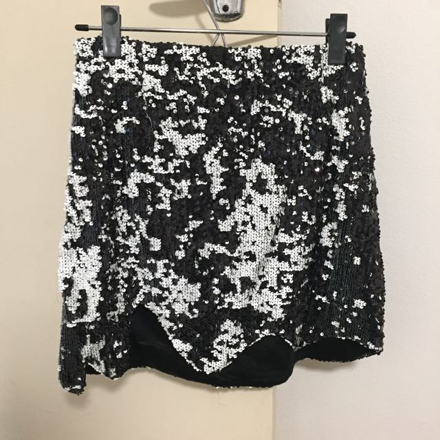 Princess Polly Sequin Skirt With Zipper