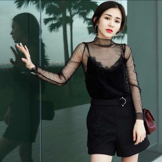 READYSTOCK! Mesh Fishnet Top